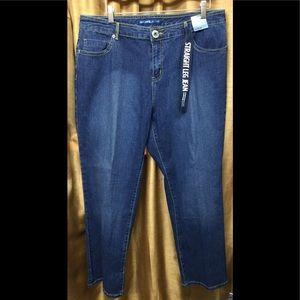 Avenue Jeans Classic Fit Stretch Straight Leg